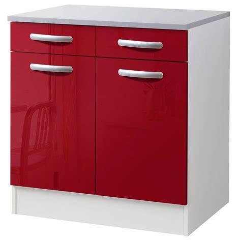 petit meuble bas de cuisine meuble de cuisine bas 2 portes 2 tiroirs brillant