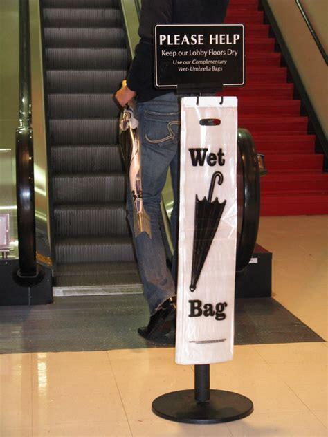 wet umbrella bag stands  umbrella bag dispensers