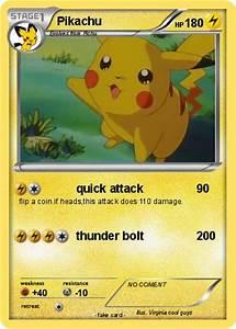 Pokémon Pikachu 15070 15070 - quick attack - My Pokemon Card