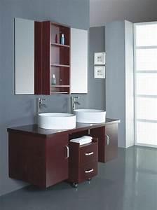 Meuble Vasque Salle De Bain Bois : meuble double vasque de design moderne en 60 exemples ~ Teatrodelosmanantiales.com Idées de Décoration