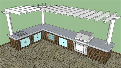 outdoor kitchen howtospecialist   build step