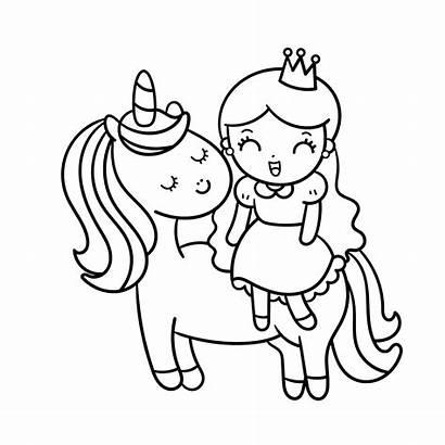 Unicorn Coloring Pages Princess Sheets Printable Unicorns