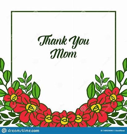 Thank Frames Card Flower Mom Decorative Orange