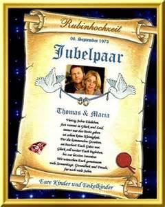 hochzeitstage gedichte 40 hochzeitstag schöne glückwunschkarte in form einer urkunde