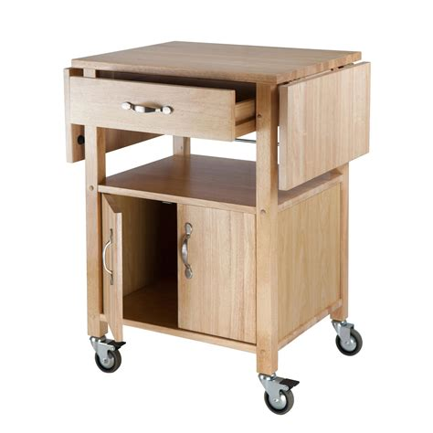 Amazoncom  Winsome Wood Dropleaf Kitchen Cart Bar