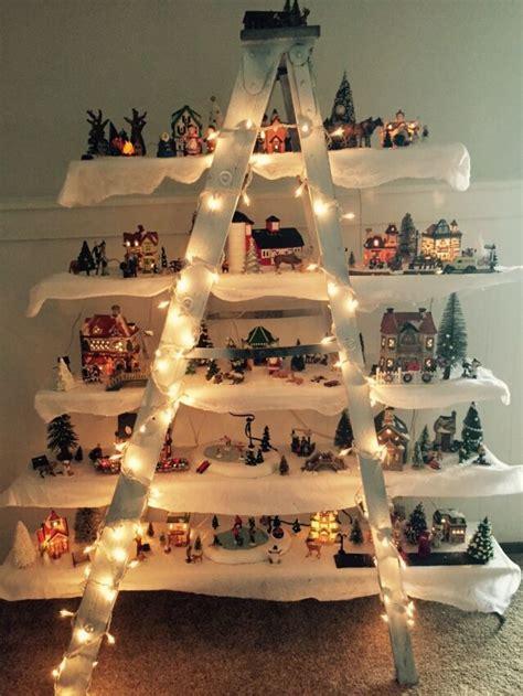 christmas village ladder decor ll pinterest
