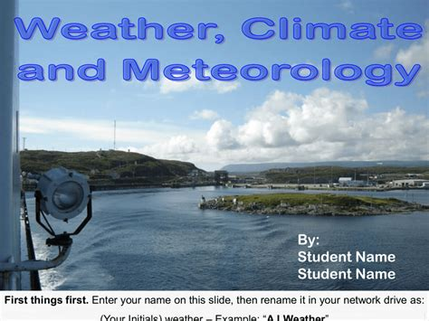 meteorology climate weather