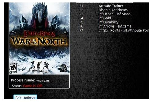 lotr war in the north trainer download
