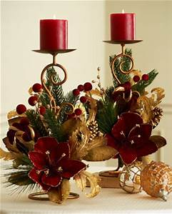 Burgundy And Gold Christmas Centerpiece to Pin on