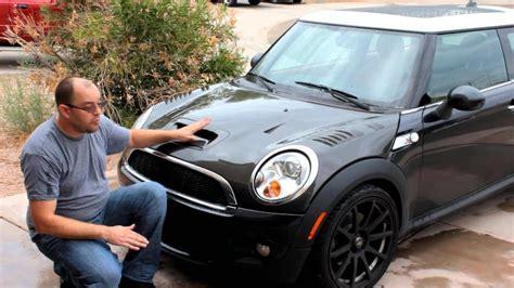 vis carbon fiber aftermarket race hood   mini cooper