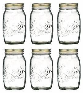 Einmachgläser Mit Schraubverschluss : 6 x 1 liter mit luftdichtem schraubverschluss k che einmachgl ser marmeladengl ser mit ~ Whattoseeinmadrid.com Haus und Dekorationen