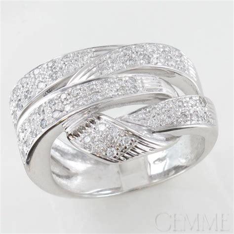 bague lien or blanc diamant taille moderne