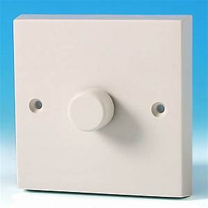 Varilight 1 Gang 1 Way 400w Rotary Dimmer Light Switch