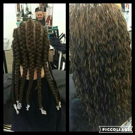 braided perm  love  idea permed hairstyles mom
