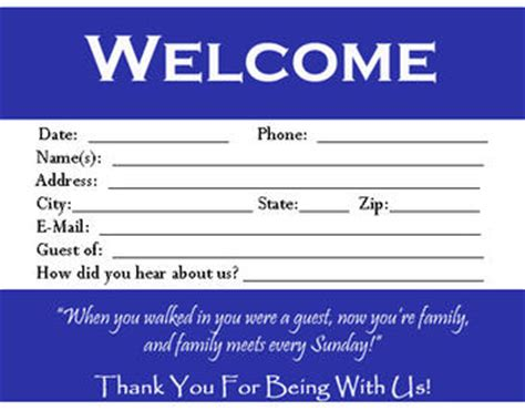 visitor card template   customize