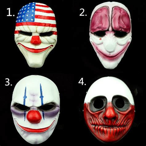 Payday 2 Halloween Masks 2015 by 1pc Lot Wholesale Pvc Scary Clown Mask Payday 2