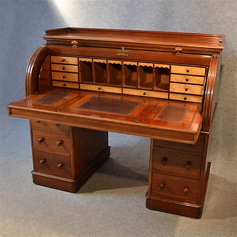 cheap roll top desk antique fine victorian writing bureau large english