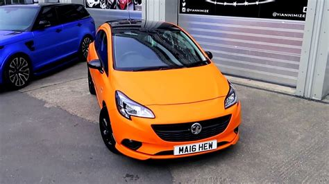 vauxhall orange vauxhall corsa wrapped matte orange aka opel corsa youtube
