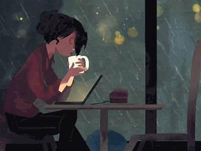 Coffee Night Rainy Raining Reading Mood Rain