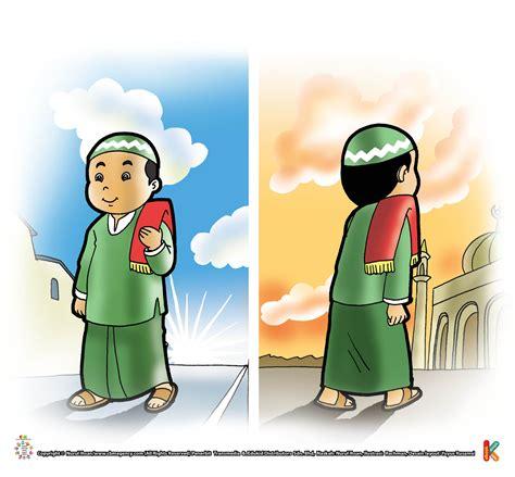 43 gambar animasi orang pergi ke masjid koleksi terpopuler