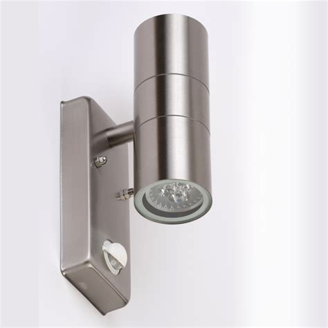 wall light led outdoor l ip44 up down gu10 light with