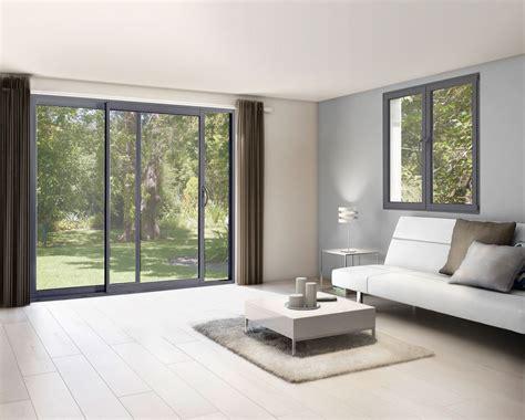 Fenêtre Coulissante Aluminium Gris / 100 X 120 Cm