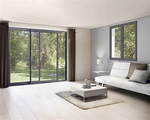 Fenetre Alu Gris : fen tre coulissante aluminium gris 100 x 120 cm ~ Melissatoandfro.com Idées de Décoration
