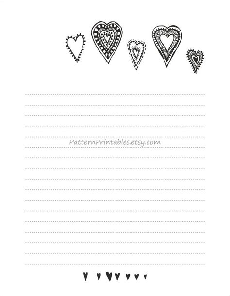 lined letter writing paper digital