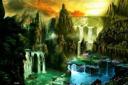 Landscape Nature Waterfalls Phoneky Fantasy Water Air