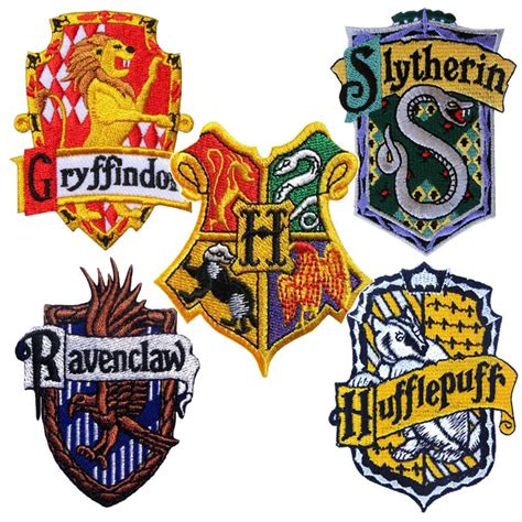 Harry Potter Castle Wallpaper Harry Potter Patch House Badge Crest Embroidered Iron Sew On Hogwarts Gryffindor Ebay
