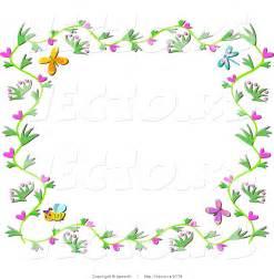 Free Spring Flower Border Clip Art