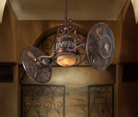 Gyro Ceiling Fans With Lights by Traditional Gyro Turbo Ceiling Fan Belcaro Walnut