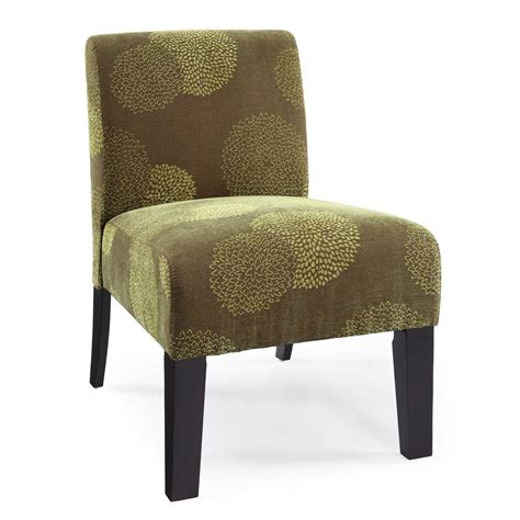 shop dhi deco green sunflower accent chair at lowes