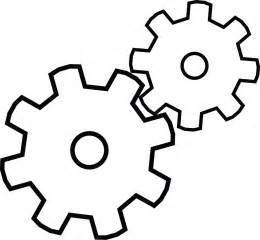 Free Printable Gears Drawing
