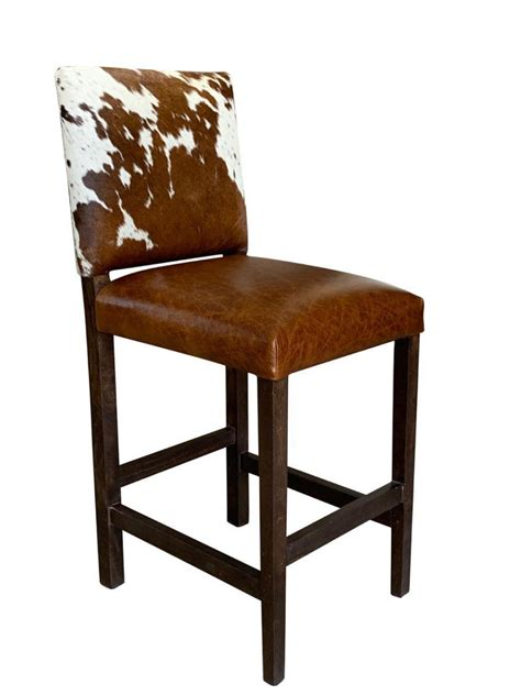 Cowhide Stool by Modern Cowhide Bar Stool With Back Proffitt