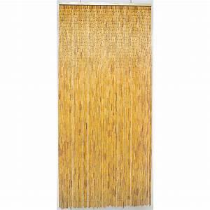 Rideau Hauteur 220 : rideau de porte bambou naturel morel 100 x 220 cm de rideau de porte ~ Teatrodelosmanantiales.com Idées de Décoration