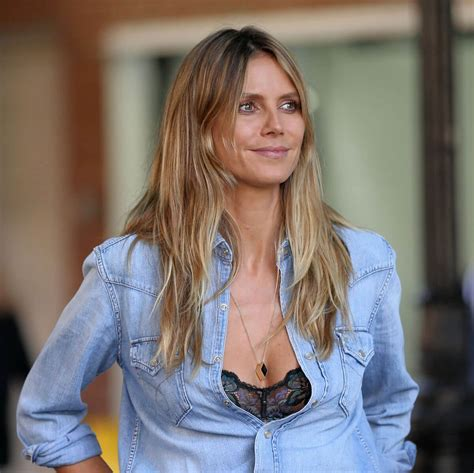 Heidi Klum Double Denim Out New York
