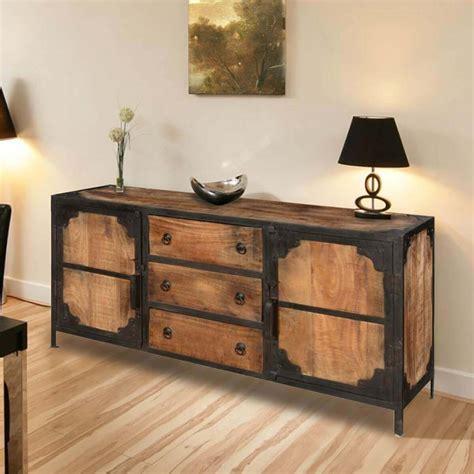 Wood Sideboards by Industrial Rustic Reclaimed Wood 2 Door 3 Drawers Sideboard