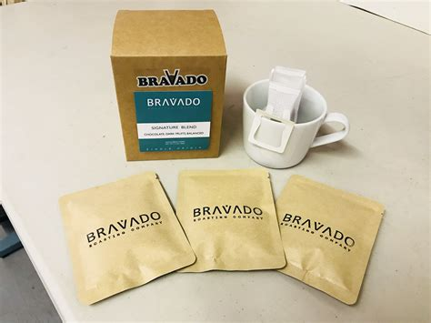 A very quick look at three new products from soulhand: Signature Blend Drip Bag Coffee - Bravado Roasting Company