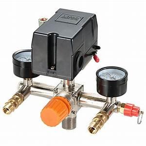 Pressure Switch Manifold Regulator Gauges Air Compressor