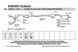 2000 Subaru Outback Exhaust