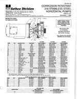 316 Stainless Steel End Suction Pumps - Sethco®