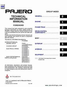 Mitsubishi Montero Workshop  U0026 Technical Information Manual