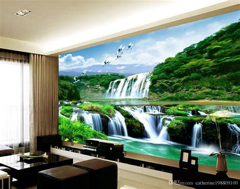 Custom Any Size Mural 3d Wallpaper 3d Wall Papers For Tv