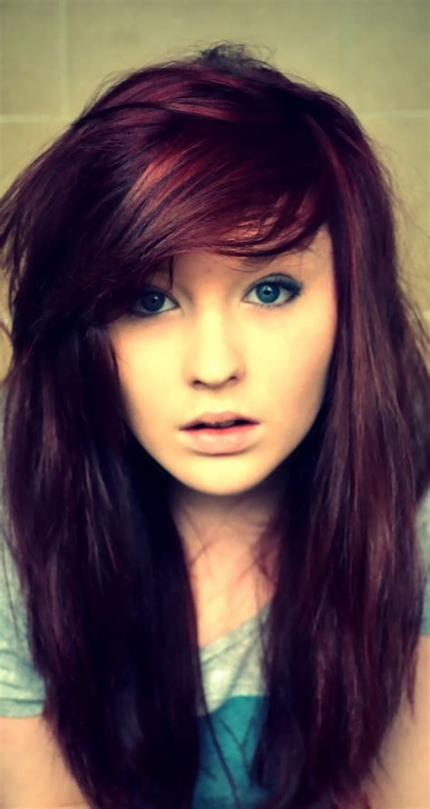 Red Purple Hair Color So Cool Random Pinterest Her