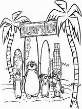 Coloring Surf Pages Surfs Team Fun Cartoon Printable sketch template