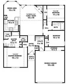 Single Story Bedroom House Plans by 3 Bedroom House Plans One Story Marceladick