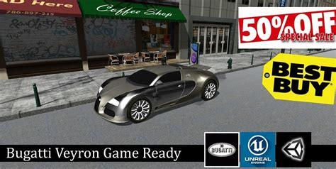 Bugatti veyron in car toon town, 2014. Bugatti Veyron - Game Ready Vehicle 3D asset | CGTrader