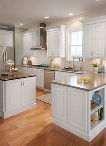 grove arch painted linen traditional kitchen cabinetry With kitchen cabinets lowes with arch candle holder