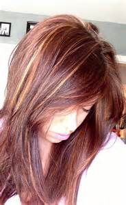 Red and Brown Hair with Blonde Highlights